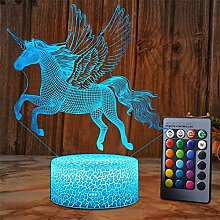 Unicorn Gifts for Girls, Dimmable 3D Nightlight