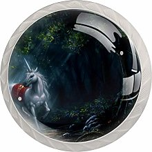 Unicorn Glass Cabinet Knobs Crystal Knobs for