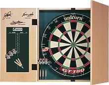 Unicorn Original Dartboard, Cabinet and 2 Sets of