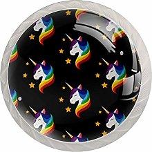 Unicorn Pattern Drawer Round Knobs Cabinet Pull