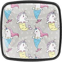 Unicorn Pattern Kitchen Cupboard Handles 1.18 Inch