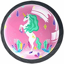 Unicorn Pink 4 Pieces Crystal Glass Wardrobe