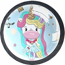 Unicorn Princess Crystal Door Knobs Glass