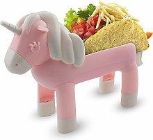Unicorn Taco Holder Kids Plate, Taco Stand Holds 2