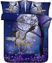 Unicorn Urban Single Duvet Cover and Pillowcase
