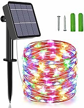 Unihoh Solar String Lights, 85 FT 240 LED Outdoor