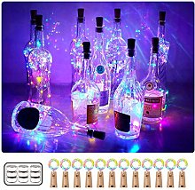 Unihoh Wine Bottle Lights with Cork, [12 Pack] 2M