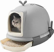 UNIIKE Pet Litter Box Cat Toilet Portable Cleaning
