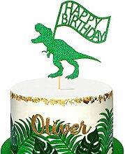 Unimall 1 Pack Dinosaur Happy Birthday Cake Topper