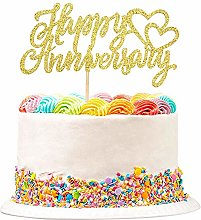 Unimall 1 Pack Happy Anniversary Cake Topper