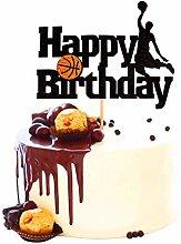 Unimall 1Pc Basketball Cake Topper Basketball