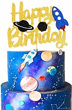 Unimall 1Pc Double Sided Space Astronaut Cake
