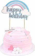 Unimall 1pc Happy Birthday Cake Topper Blue