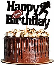 Unimall 1Pc Rugby Happy Birthday Cake Topper Rugby
