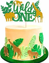Unimall 1Pc Wild One Cake Topper Jungle Safari