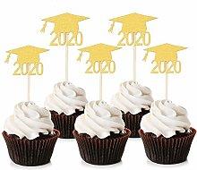 Unimall 24Pcs Graduation Cupcake Toppers 2020
