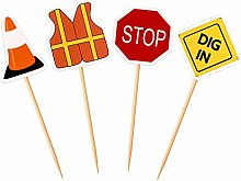 Unimall 36 Pieces Construction Cupcake Toppers