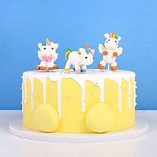 Unimall 3pcs Unicorn Cake Topper Kit Happy