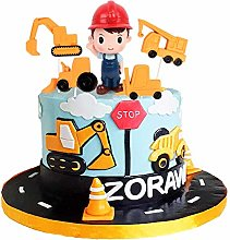 Unimall 5Pcs Resin Construction Truck Cake Toppers