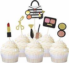 Unimall Global 21-Piece Glitter Makeup Cupcake