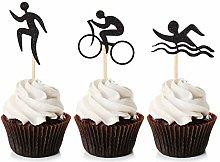 Unimall Global 24 Piece Swim Bicycle Run Cupcake