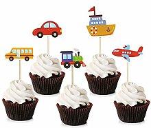 Unimall Global 30 Piece Transport Theme Cupcake