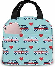 Union Jack Car Reusable Lunch Bag Insulated Lunch