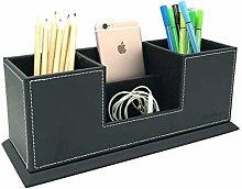 UnionBasic Dual Pencil Holder - Leatherette Desk