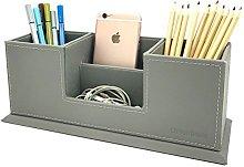 UnionBasic PU Leather 4 Compartment Desk Organizer