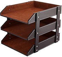 UnionBasic PU Leather Stackable Office File