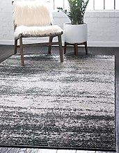 Unique Loom Area Rug, polypropylene, Black, 5'
