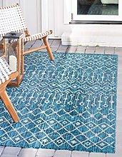Unique Loom Modern Geometric 5-Feet by 8-Feet