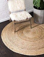 Unique Loom Modern Solid 8-Feet by 8-Feet (8'