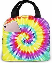 Unique Tye Dye Art Reusable Lunch Bags Leakproof