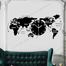 Unique Wall Clock Creative World Map Wall Hanging