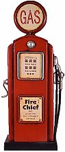UniqueGift Retro Red Metal Gas Pump Vintage Style