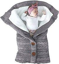 Unisex Infant Swaddle Blankets Soft Thick Fleece