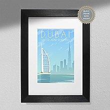 United Arab Emirates Poster - Dubai Travel Print  