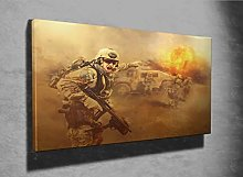 United States Army Rangers Photo Canvas Print