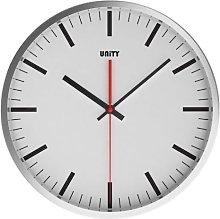 Unity Abberton Silent Sweep Wall Clock, White