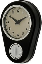 Unity Abcott Kitchen Timer Countdown Clock, Black