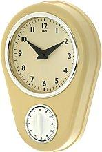 Unity Abcott Kitchen Timer Countdown Clock, Cream