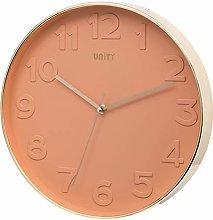 Unity Bergen Style Modern Pink Wall Clock 30cm /