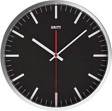 Unity Dodworth Silent Sweep Wall Clock, Black