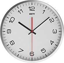 Unity Highwood Silent Sweep Wall Clock, White