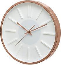 Unity Kinross Rose Gold Wall Clock, Metal, 35 x 35
