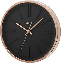 Unity Missouri Black Dial Wall Clock with Rose