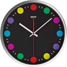 Unity Podmore Silent Sweep Wall Clock, Multi-Color