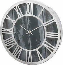 Unity Silver Metal Roman Numeral 40cm Wall Clock