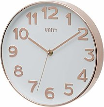 Unity UNSW840 Bakewell Wall Clock, Rose Gold, 25 x
